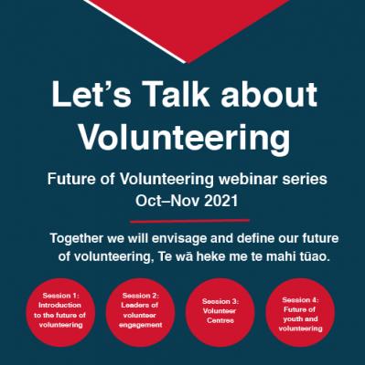 Let's talk about volunteering - webinar series